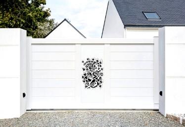 Portail aluminium personnalisé Alsace