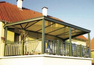 Balustrade de terrasse en aluminium en Alsace